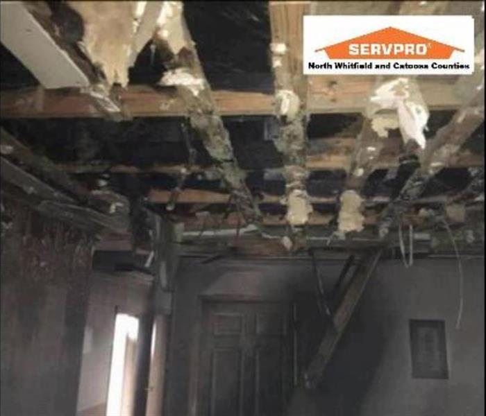 Ceiling Fire Damage